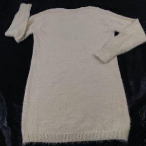 GB Super Soft Open Back Ivory Sweater Dress. K2